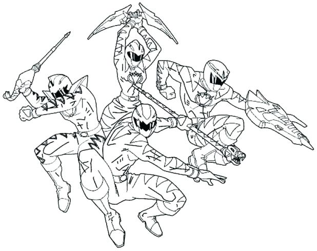 618x489 Power Ranger Coloring Pages Free Printable Rangers For Kids Power