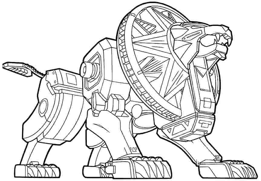 863x600 Power Rangers Printables Coloring Page