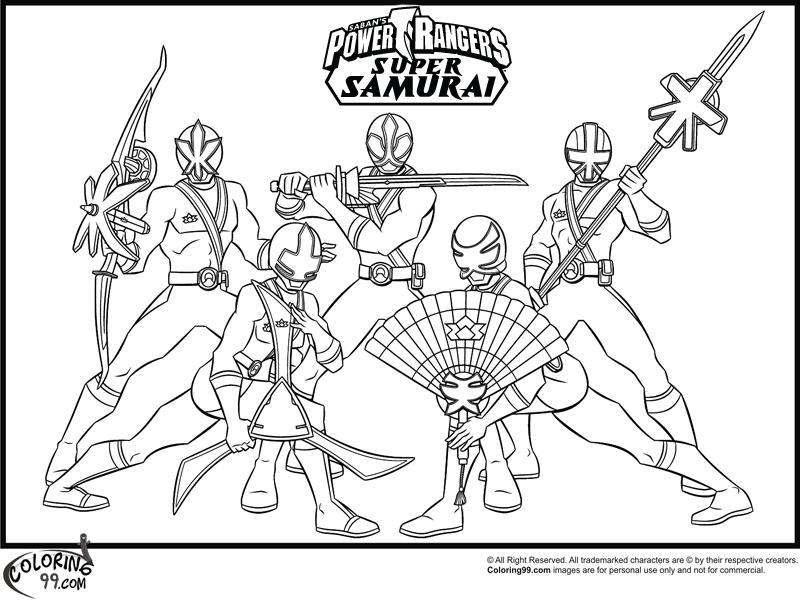 800x600 Power Rangers Samurai Coloring Pages