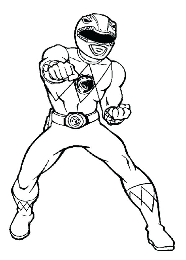 600x840 Red Power Ranger Coloring Page