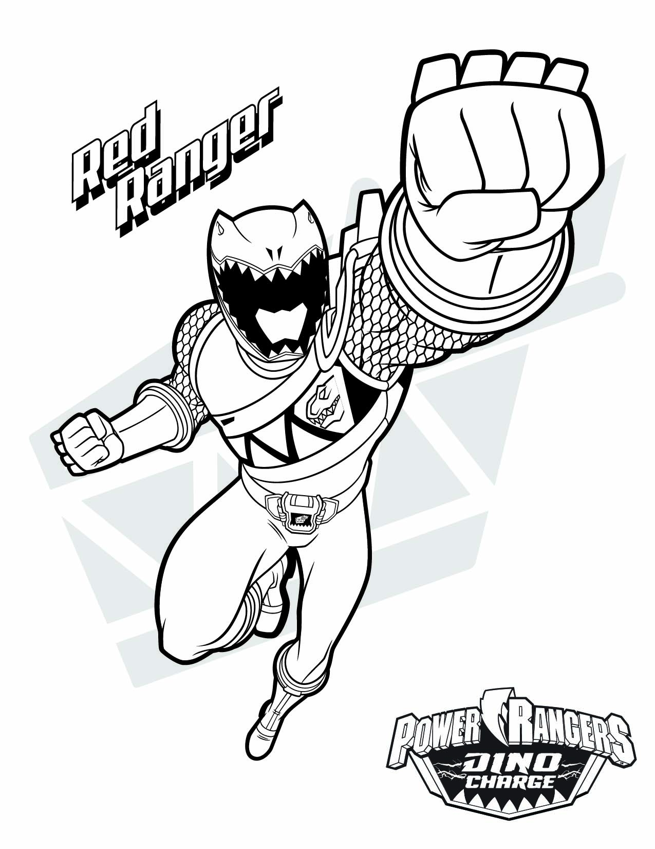 1275x1651 Power Ranger Printable Coloring Pages Download