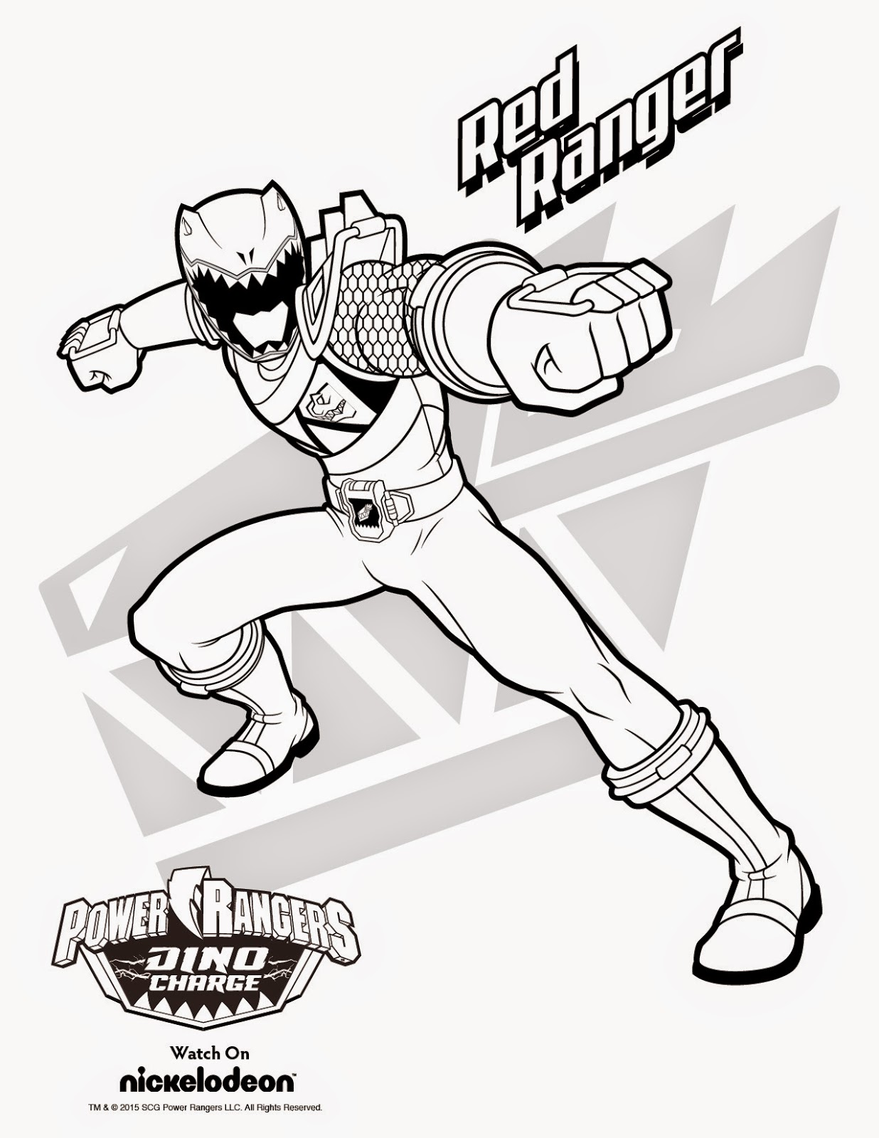 Power Rangers Printables Coloring Pages