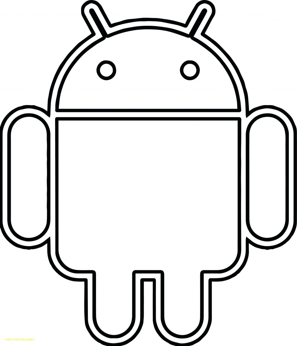 1024x1192 Coloring Page Coloring Pages Power Rangers Robot With Android