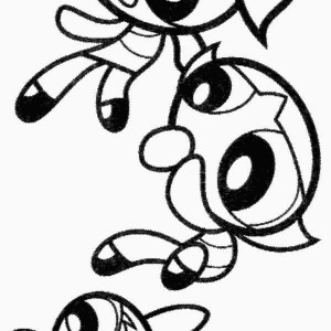 300x300 Mojo Jojo And The Powerpuff Girls Coloring Page Color Luna