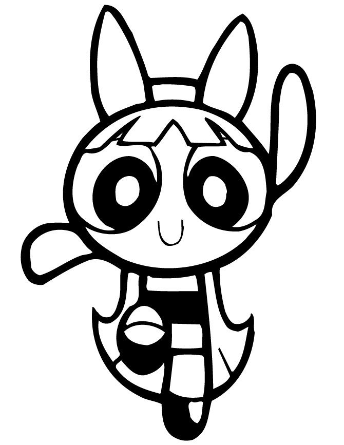 670x867 Powerpuff Blossom Coloring Pages