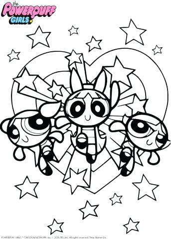 343x480 Powerpuff Girls Coloring Pages Page Buttercup