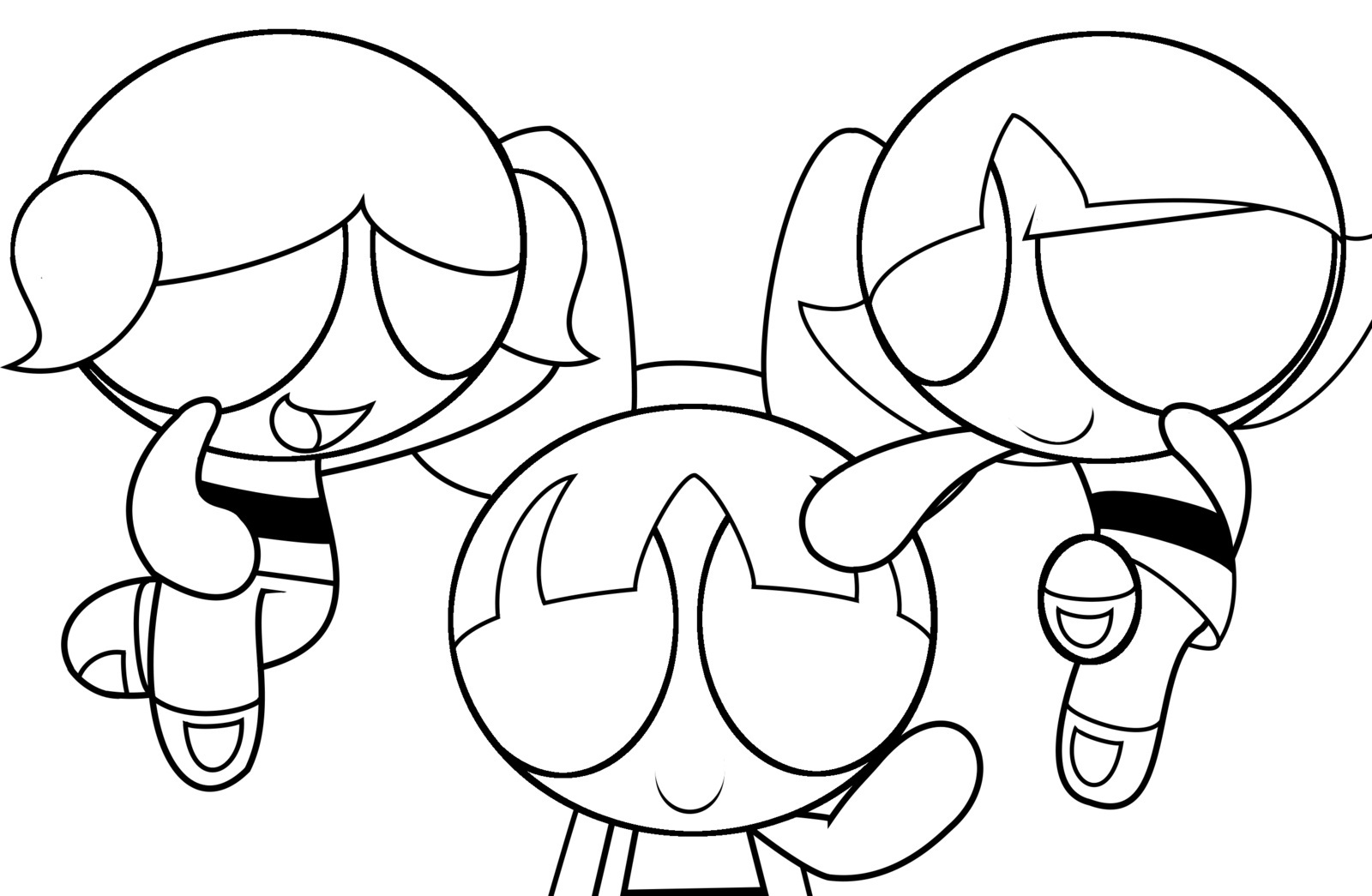 1600x1045 Sizable Power Puff Girls Coloring Page Printable Powerpuff Pages