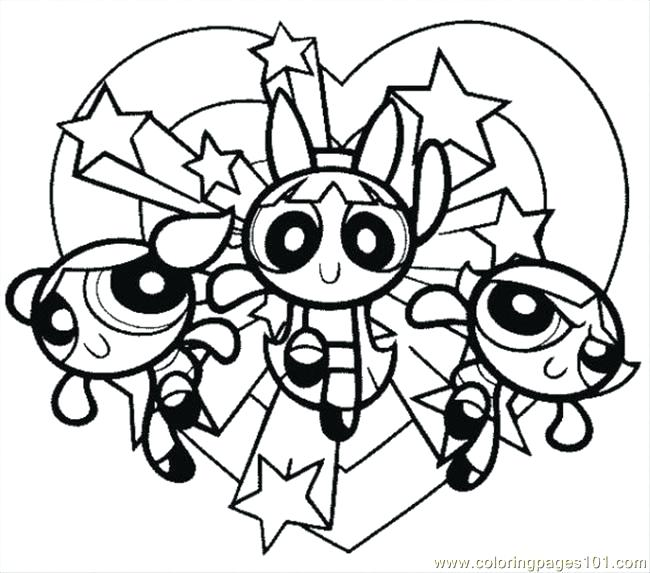 650x573 Buttercup Coloring Pages Girls Bubbles Drawing With Girl Coloring