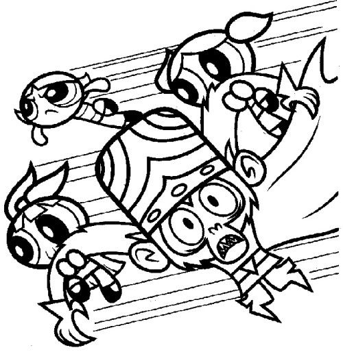 500x514 Buttercup Coloring Pages Powerpuff Girls Enemy The Black Coloring
