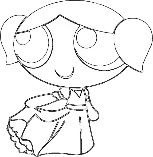 651x667 Powerpuff Girls Coloring Pages Girl