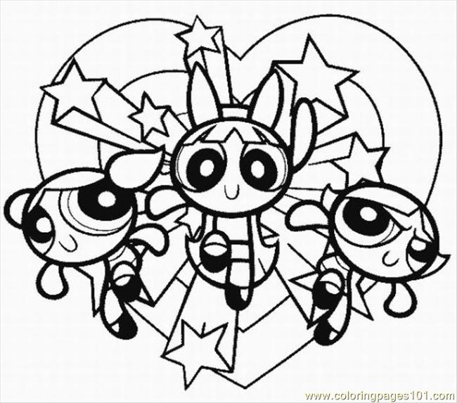 650x573 Powerpuff Girls Printable Coloring Pages