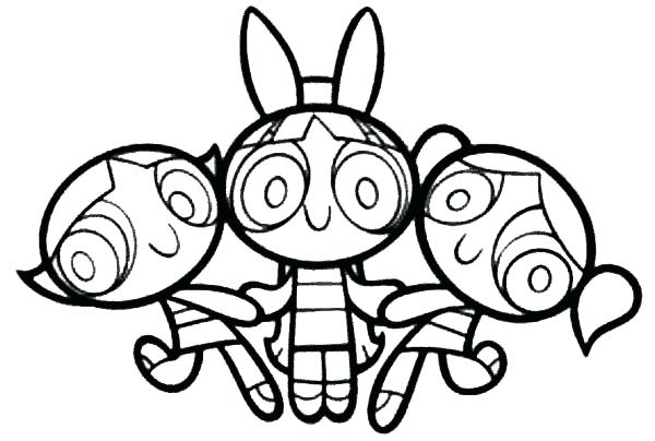 600x404 Powerpuff Coloring Pages