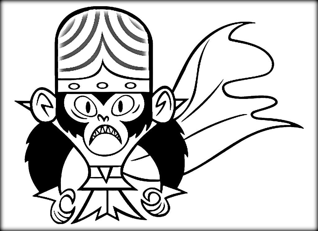 1024x745 Mojo Jojo Coloring Pages