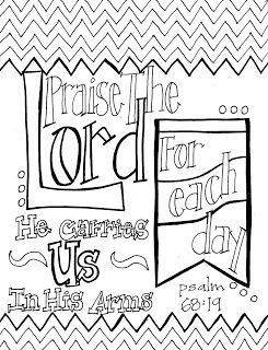 245x320 Free Printable Scripture Coloring Page Praise The Lord, For Each