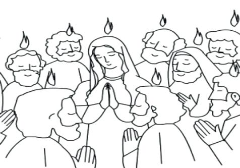 476x333 Holy Spirit Coloring Pages Catholic Praise And Holy Spirit