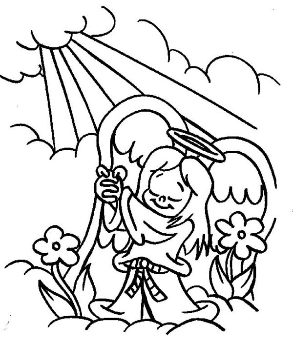 600x705 Angels Praise To The God Lord Coloring Page Color Luna