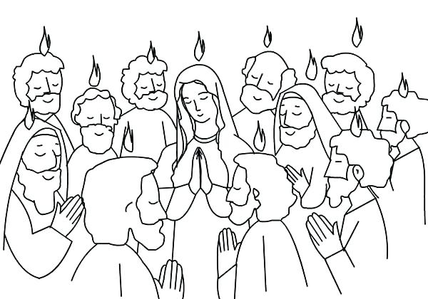 600x420 Pentecost Coloring Page Holy Spirit Coloring Pages Praise And Holy