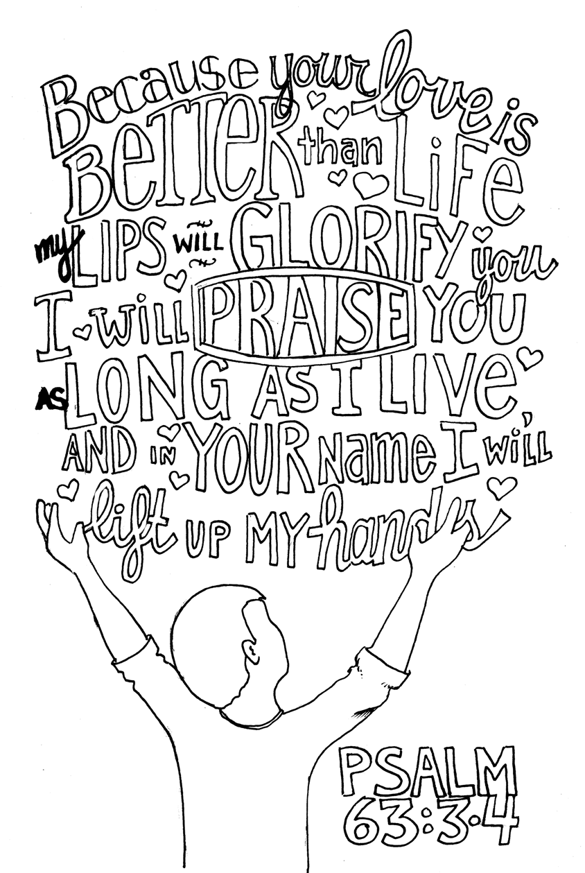 844x1259 Praise And Worship Coloring Pages