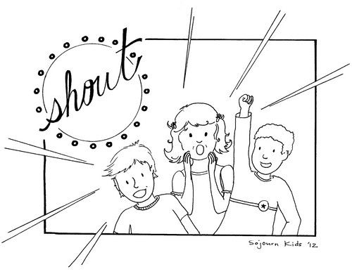 500x390 Shout Coloring Page For Kids Children's Bible Study
