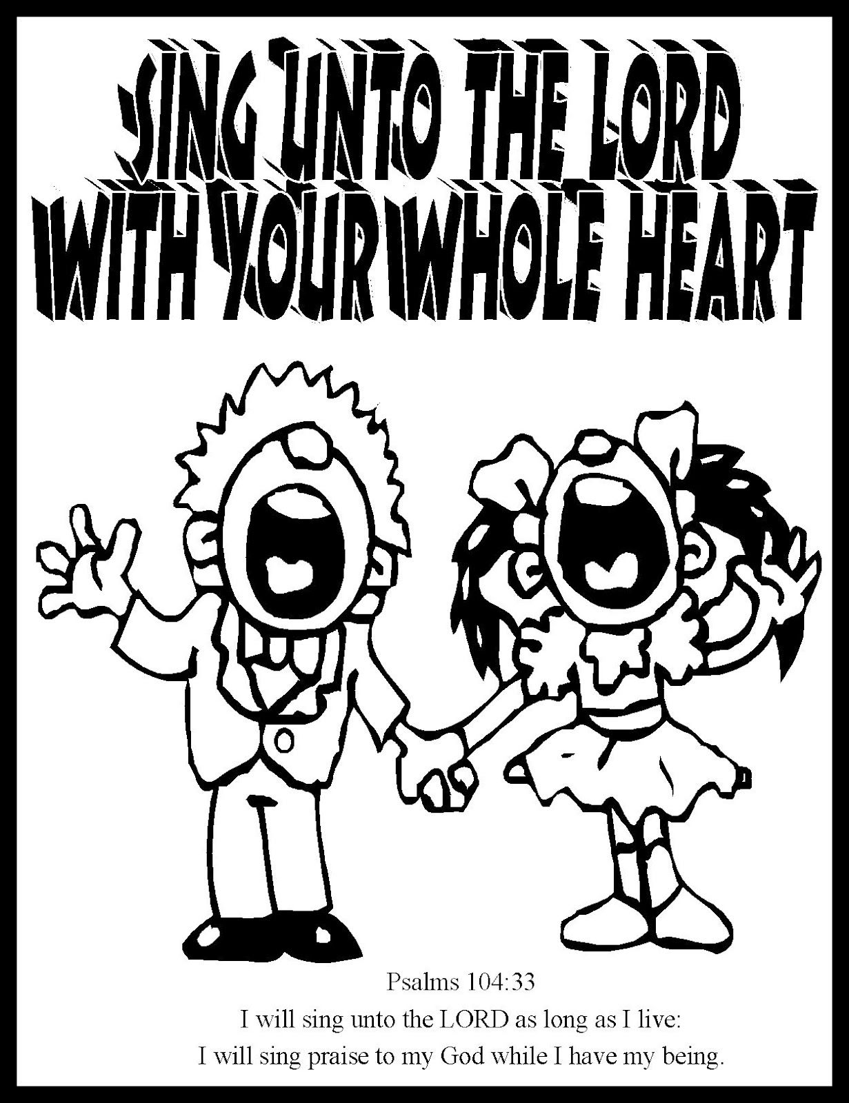 1231x1600 Sing Unto The Lord Coloring Page Look Into The Immanuel Prayer