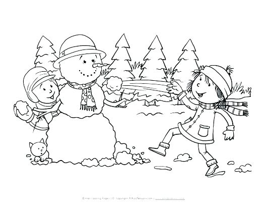 530x410 Snowy Day Coloring Page Free Snowman Praise Coloring Page