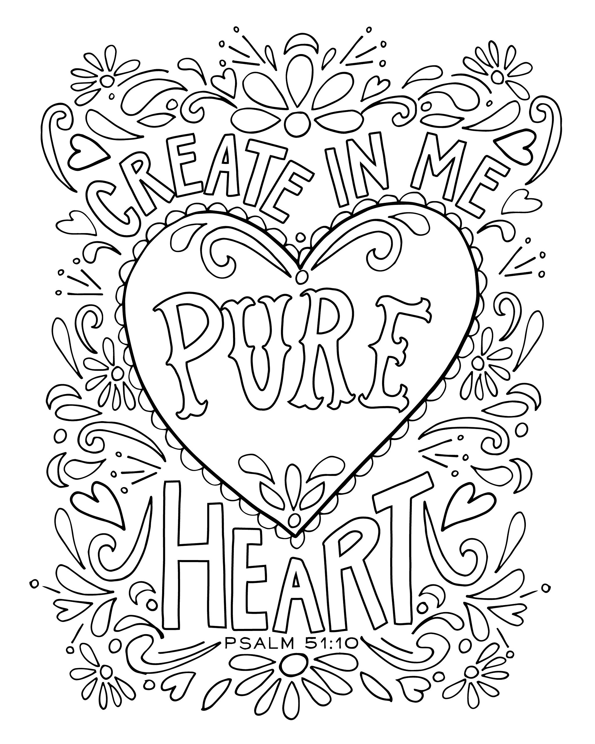 2048x2560 Competitive Psalm Coloring Page Look To Him