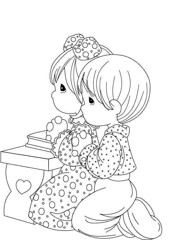 Pray Coloring Pages Free