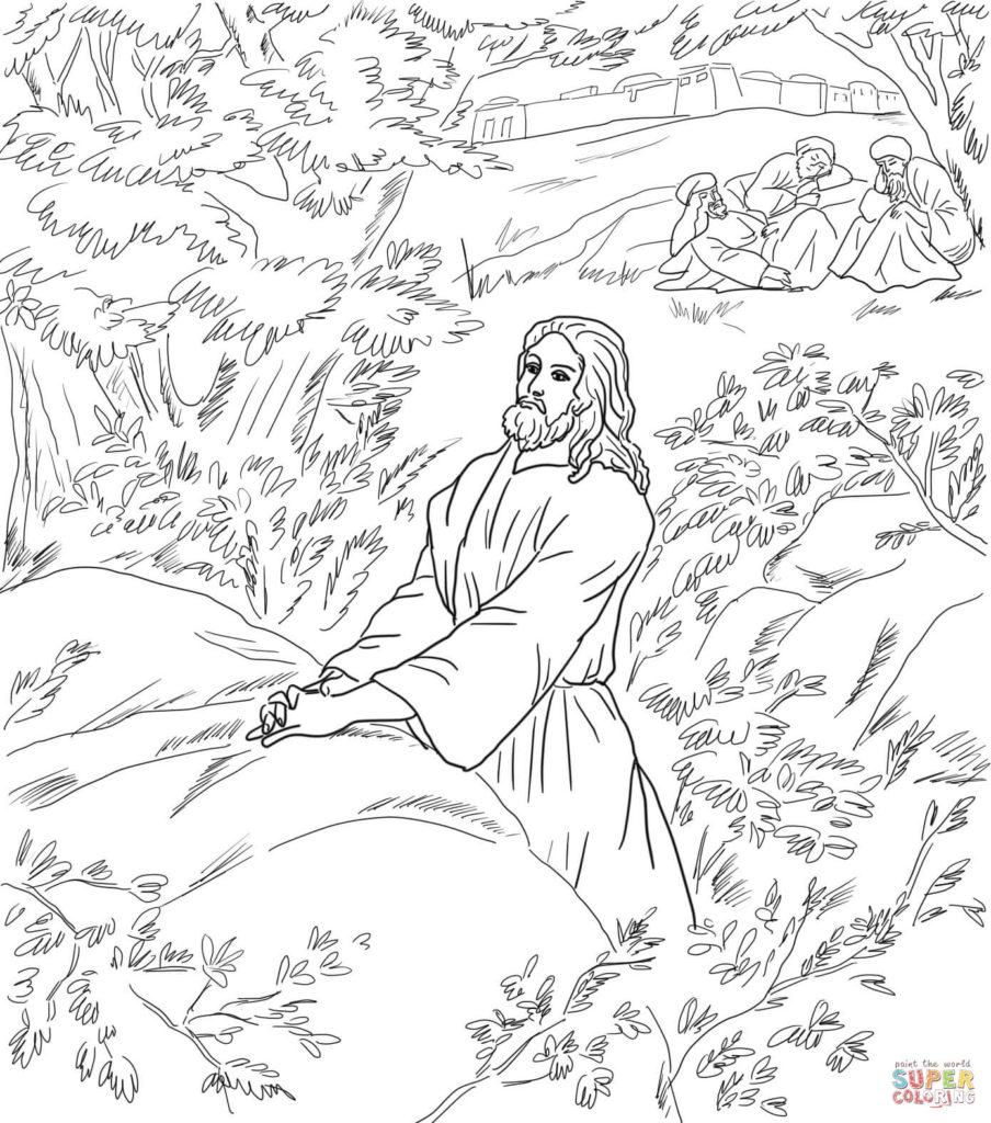 904x1024 Jesus Pray In The Garden Of Gethsemane Coloring Page Free Jesus
