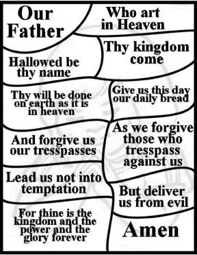 288x372 Lord's Prayer For Children Free Lord's Prayer Coloring Pages