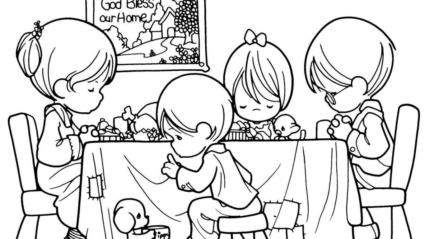1366x768 mighty grace bible coloring sheets children praying free page