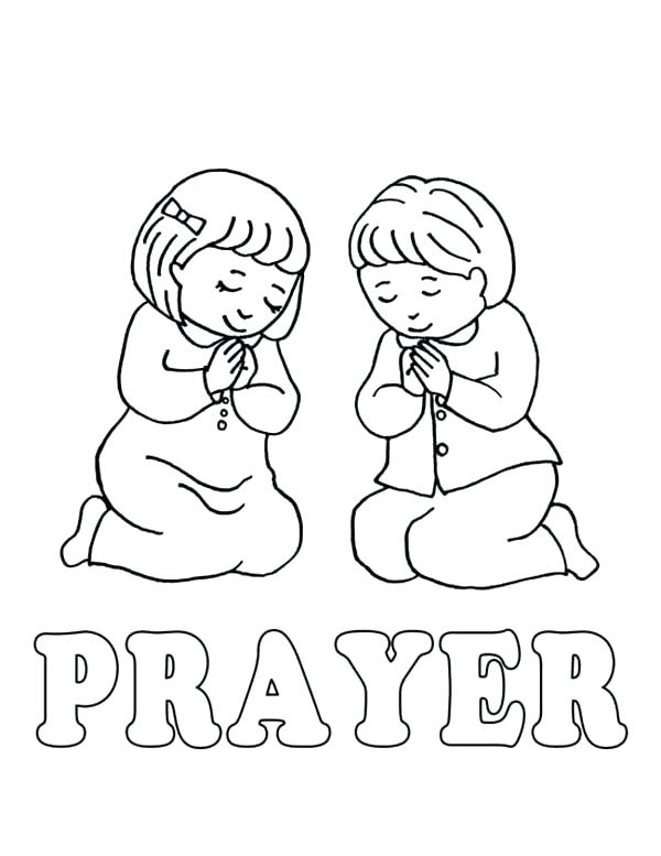 The best free Prayer coloring page images. Download from 312 ...