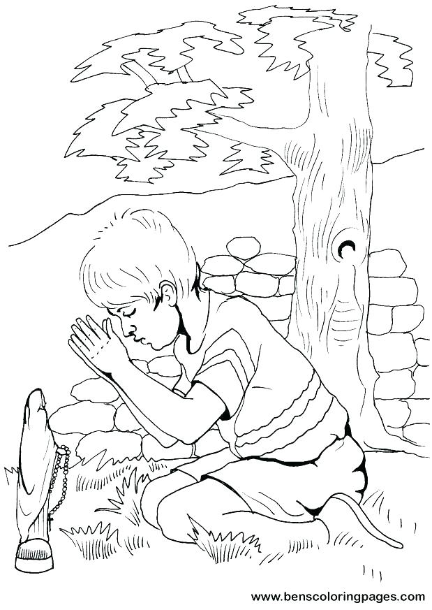 619x873 Coloring Pages On Prayer Children Praying Coloring Page Fresh