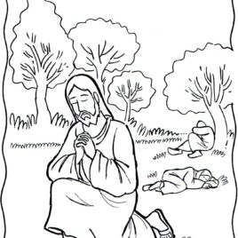 268x268 Jesus Praying Coloring Page Printable Archives
