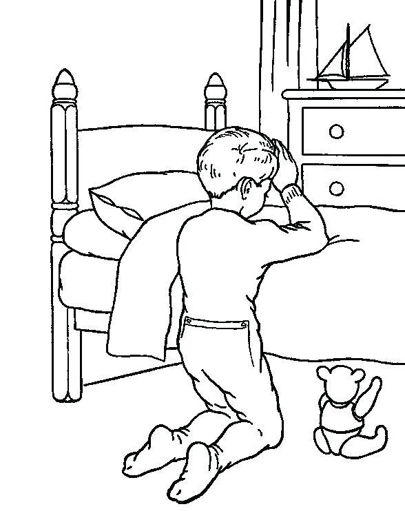 588x742 Praying Coloring Pages Children Praying Coloring Page Prayer