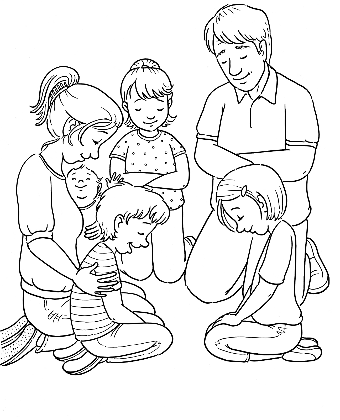 1295x1600 Family Prayer Primary Coloring Pages World Coloring Page