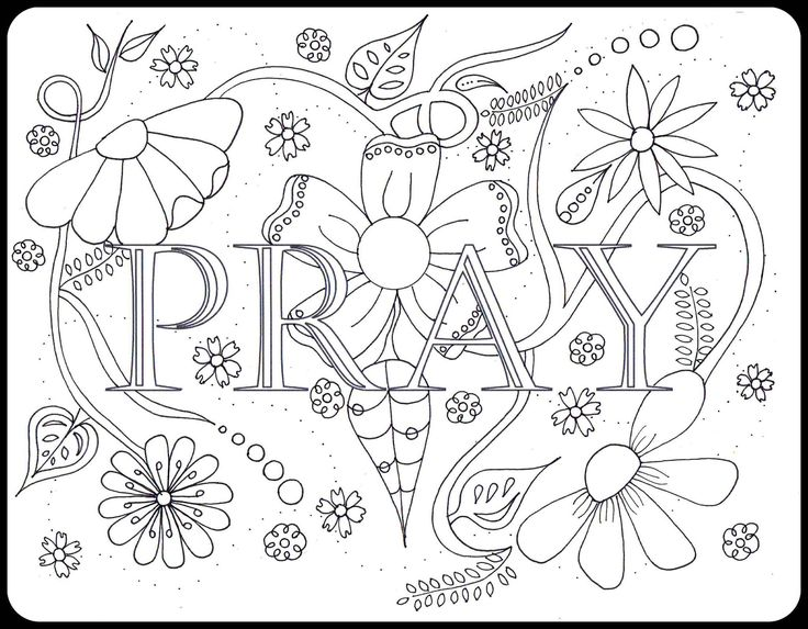 736x573 Pray Doodle Doodling Doodles, Bible And Adult Coloring