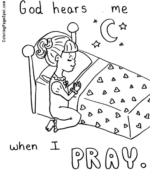 509x600 Pic Photo Prayer Coloring Pages