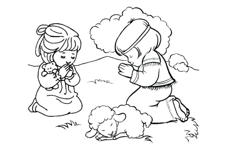728x486 Prayer Coloring Pages Pumpkin Child Praying Page Impressive Best