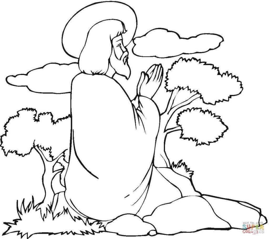 1024x909 Jesus Praying Coloring Page Free Printable Coloring Pages Jesus