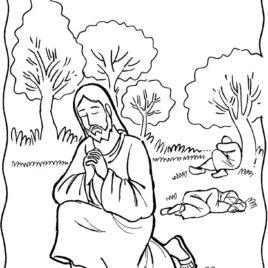 268x268 Jesus Praying Coloring Page Printable Archives