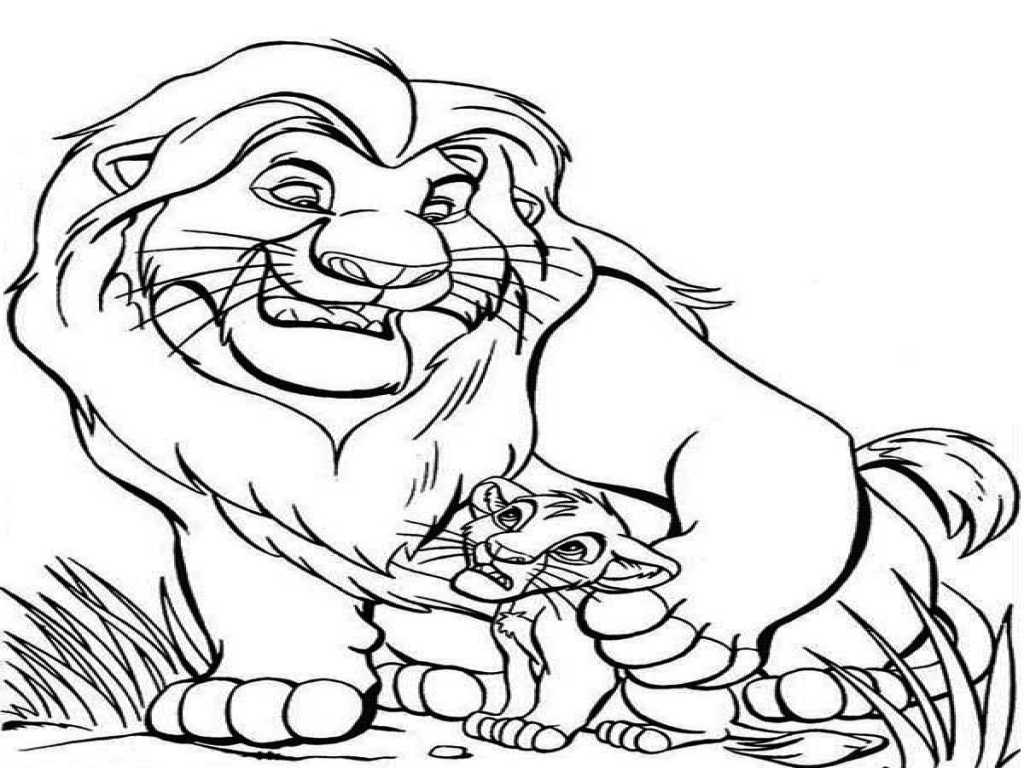 1024x768 Lion King Mufasa Coloring Pages Thanksgiving Panda To Print