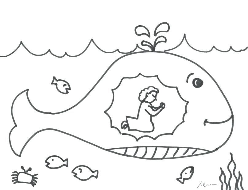 808x620 Beautiful Prayer Coloring Pages To Print Or Praying In The Whale