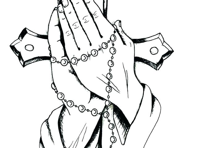 640x480 Praying Hands Coloring Page Stock Coloring Picture Child Praying