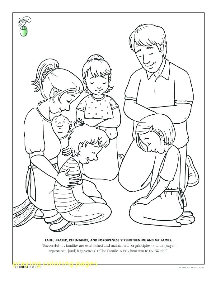 Prayer Coloring Pages To Print At Getdrawings Com Free For