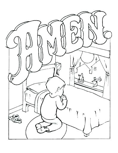 396x512 Thanksgiving Prayer Coloring Pages Vanda
