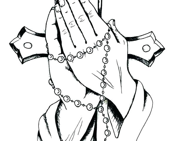 640x480 Praying Coloring Pages Praying Hands Coloring Page Praying Hands