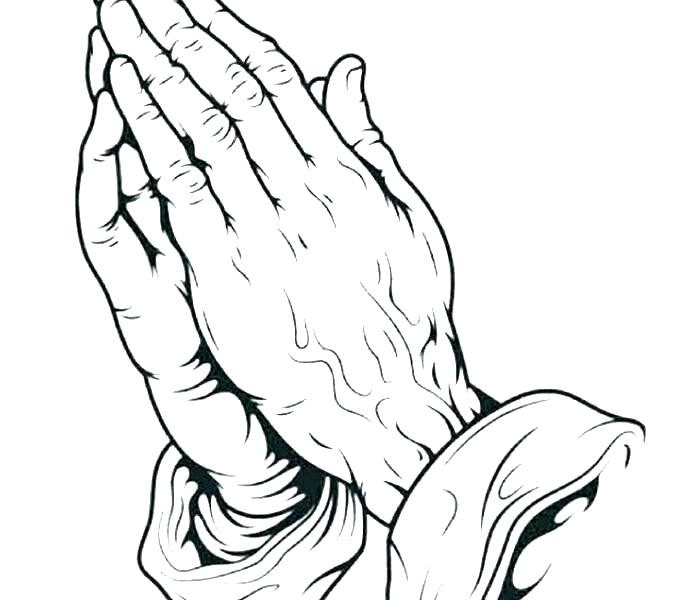 678x600 Praying Hands Coloring Page Free Coloring Praying Hands Printable
