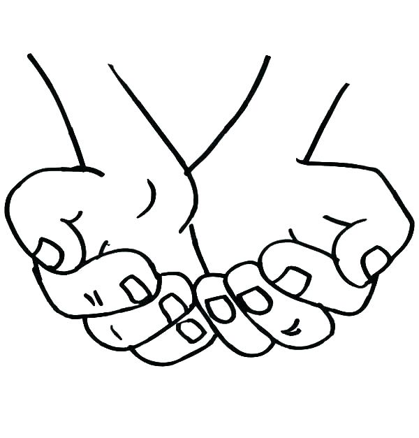 600x627 Praying Hands Coloring Pages Hand Coloring Sheet Free Coloring