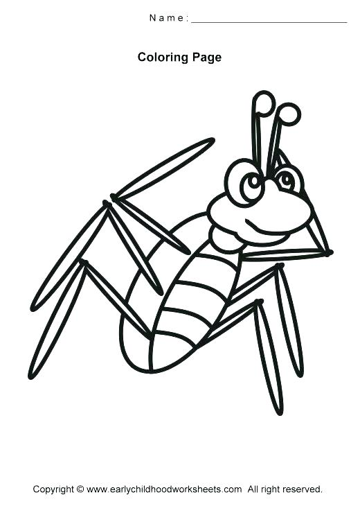520x730 Grasshopper Coloring Page Praying Mantis Coloring Page Praying