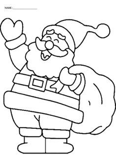 Pre K Christmas Coloring Pages